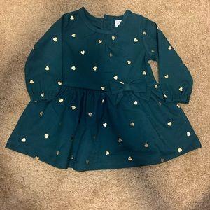 Carters 6 month hunter green NWOT dress